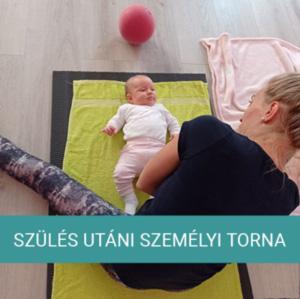 szülés utáni torna anyuka tornázik a babával