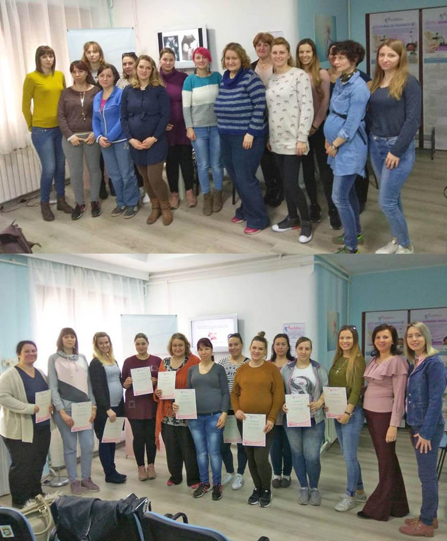 diplomirane trudnice u školi za trudnice Anahitas Subotica